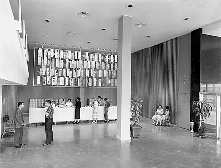 1955 Library. Circulation Desk