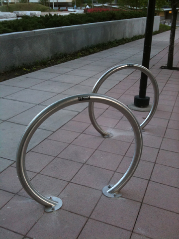 Bike racks along St Paul Street