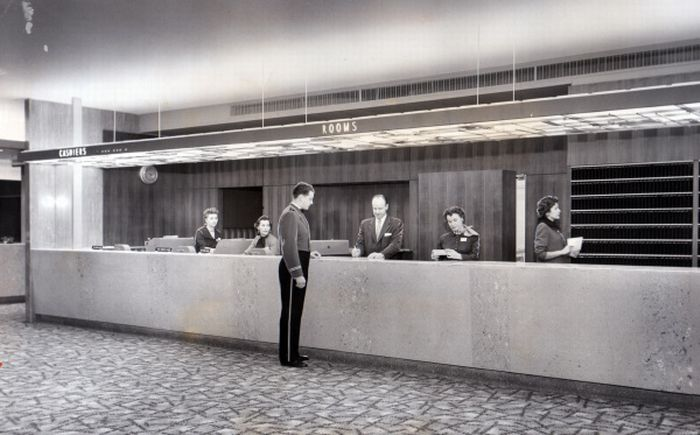 Front Desk of Statler Hilton