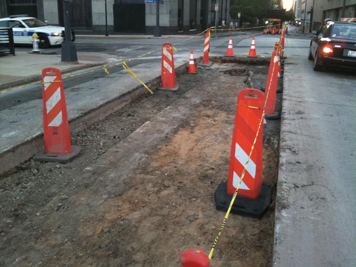 Jackson Street construction