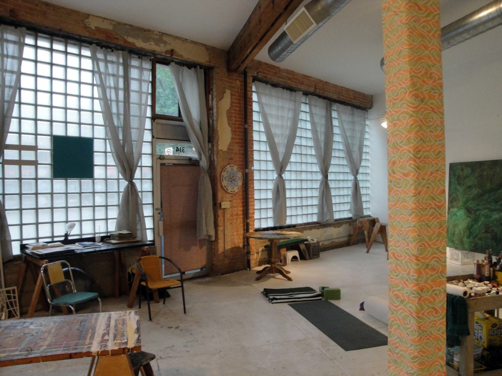 The ground floor studio space