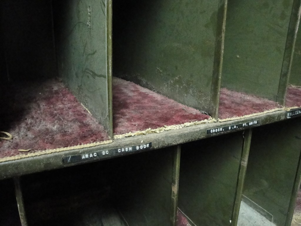 Shelves in the film vault
