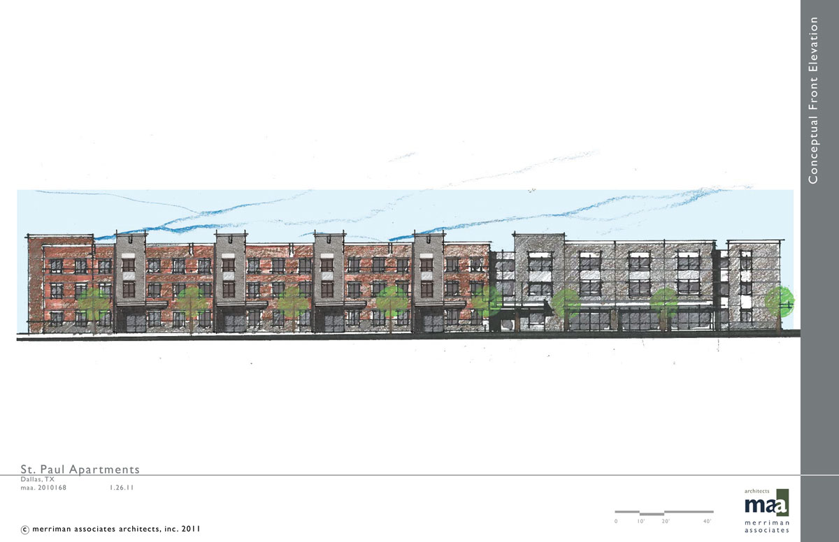Rendering of St Paul Apartments