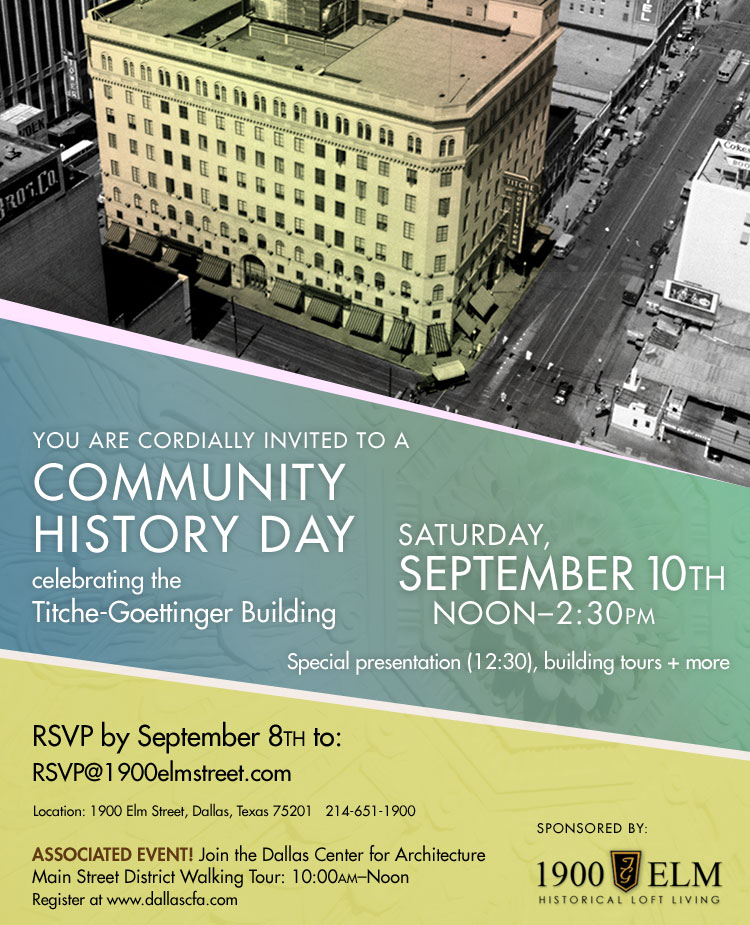 Celebrate Community History on September 10th