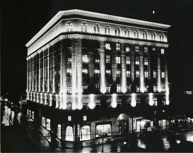 Original exterior lighting scheme