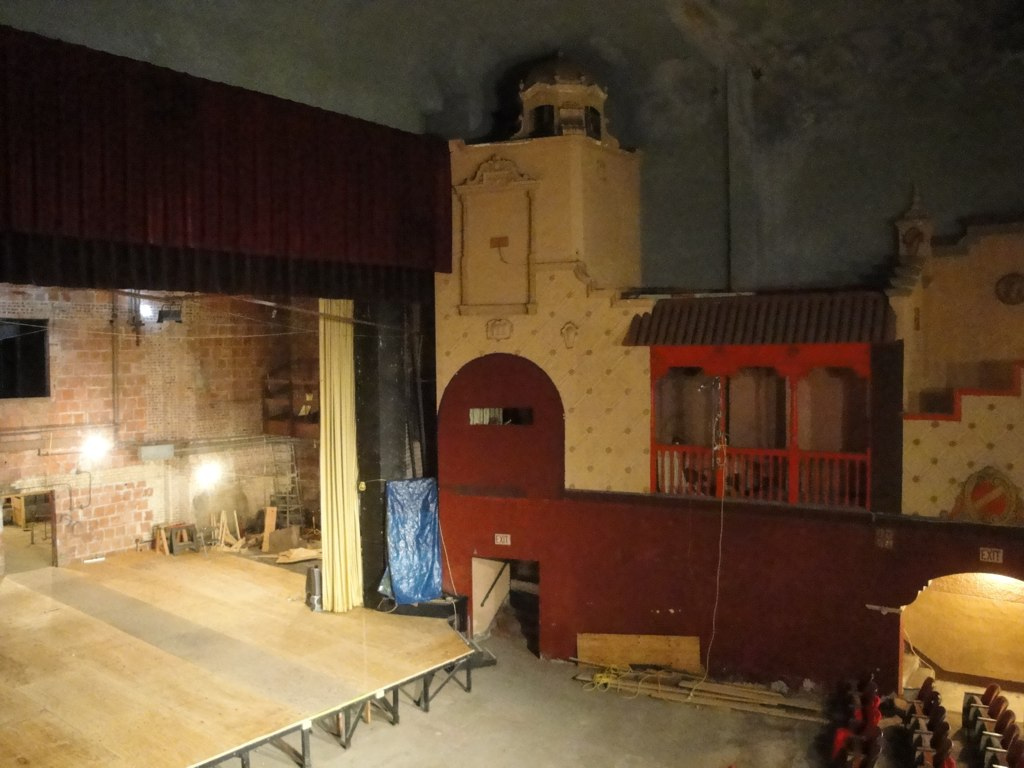 Interior of auditorium showing north wall