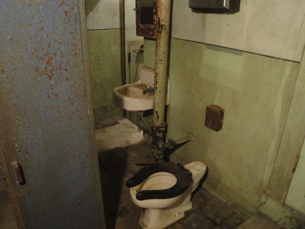 Bathroom in projection room