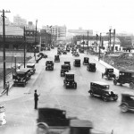 Traffic at Young &amp; Houston Streets in the late 1920s