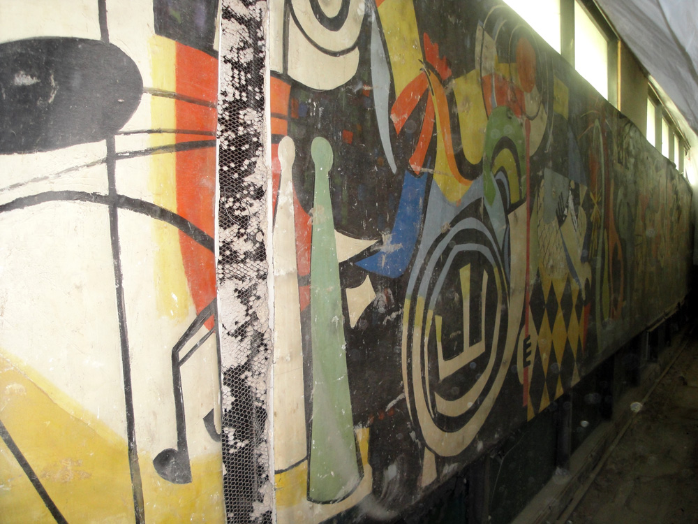 Jack Lubin's rediscovered mural