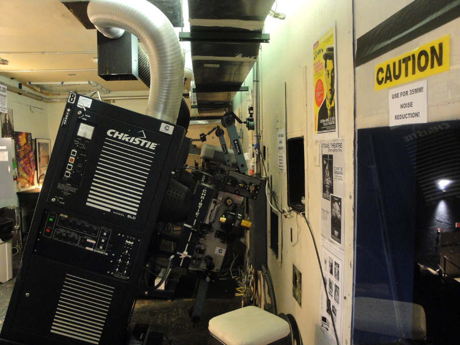 View of projection room