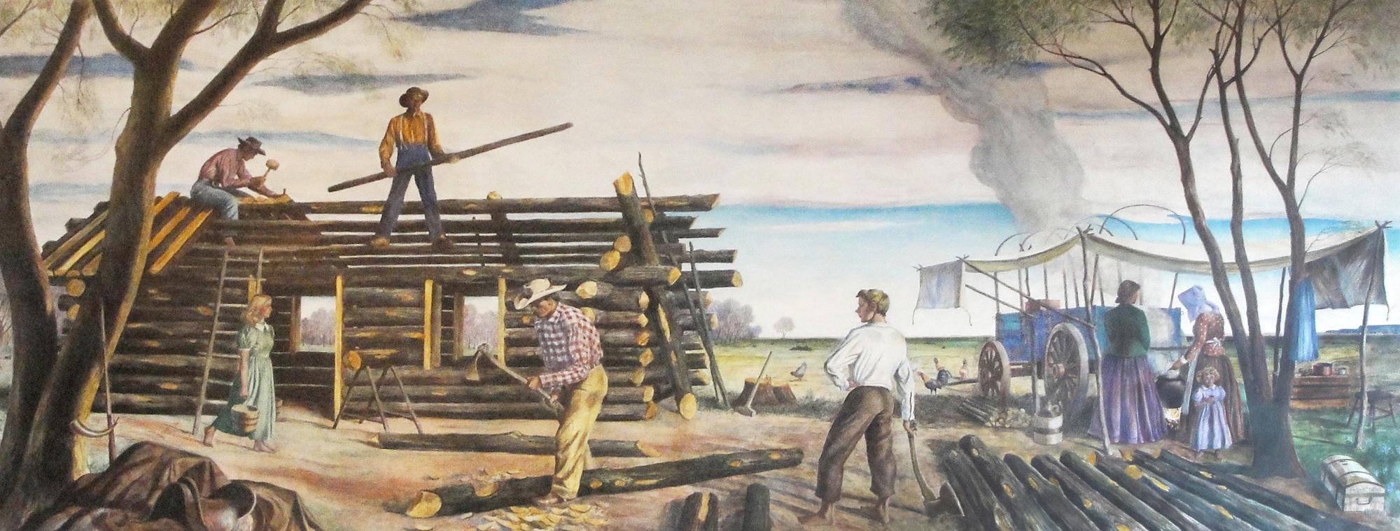 Mural of pioneers