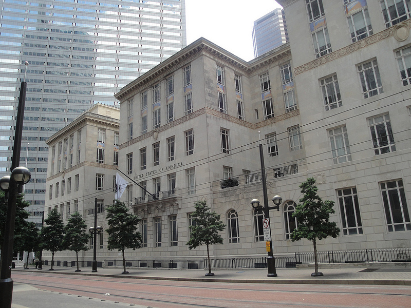 The U.S. Post Office and Courthouse celebrated the opening of luxury apartments and office suites in the restored landmark
