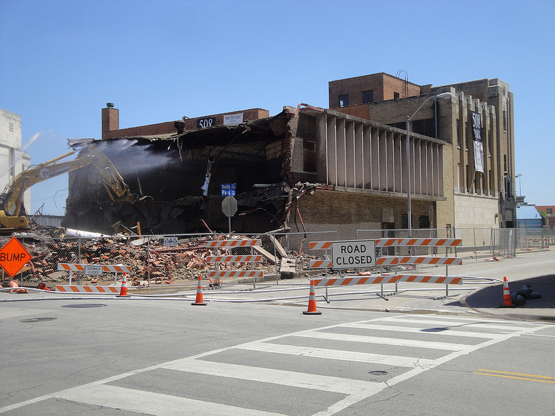 The Columbia Pictures Building / 1900 Young is demolished as work starts on the 508 Park restoration